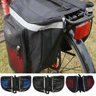 US STOCK Waterproof Cycling Bags Bike Rear Rack Double Pannier Storage PVC Bags