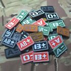 Grey Black Mud Color Blood Type A/B/O/AB Positive Negative Patches PVC-Velcro