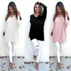 Women's Long Sleeve Sweatshirt Pullover Ladies Casual Tops T-Shirt Blouse US
