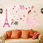 girly girl rooms - Cute DIY Lovely Girl Art Wall Stickers For Kids Rooms PVC Wall Decals Home Decor