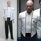 Star Trek Captain Picard Cosplay Insurrection White Uniform Outfit Costume Suit on eBay