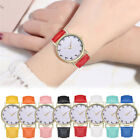 New Womens Teen Girls Casual Dial Faxu Leather Watch Couple Quartz Wirstwatches
