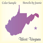 Joanie Stencil West Virginia State Shape Mountain Country Star Family Cabin Sign for sale  Kearney