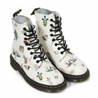 NEW Dr Martens docs Softy Off White Leather Pascal Skins Tattoo boots 1460 US 14