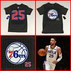 NEW Men's BEN SIMMONS Philadelphia 76ers #25 Jersey-Style Gray Tee-Shirt  NICE on eBay