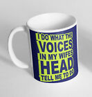 Voices In My Wifes Head Funny Design Novelty Gift Idea Coffee Tea Mug Cup