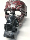 Halloween mask Hand painted resin finish- leather strap Mardi Gras masquerade