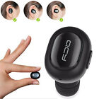 Black Mini Wireless Stereo Bluetooth Headet Headphone w/ Mic for Samsung LG HTC