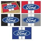 FORD - Ford Oval with Stripes Rug 4'x6'