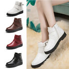 Women PU Leather Martin Boots Side Zip Ankle Boots Shoes Trendy Fashion Flats