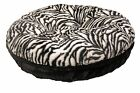 Baylee Nasco Bagel Zebra Mink Dog Bed
