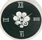Cole & Grey Stainless Steel Gear 20 Wall Clock