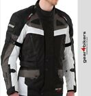 SALE Rayven Defender White Textile Jacket Motorcycle Armoured Scooter Commuter