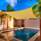 4 Size Outdoor Sun Shade Sail Canopy Garden Patio Awning Cover Sand Cloth Square