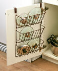 Cabinet Door Lid Organizer Rack Pot Pan Holder Kitchen Organization