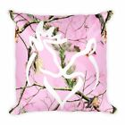 Buck and Doe Pink Pillow