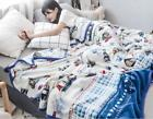 Flannel Air Conditioning Quilt Colors Fashion Soft Cartoon Simple Blanket Size
