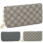 New Ladies Lucky Clover Print Large Zip Around Purse Wallet