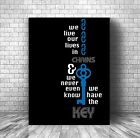 Song Lyric Classic Rock Music Quote Wall Art Plaque - Already Gone by the Eagles