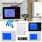 433MHZ Wireless Remote Control LCD Touch Screen Heating Programmable Thermostat