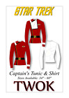 Star Trek II Sewing Pattern TWOK Captain Tunic Cosplay Comic Con Fancy Uniform on eBay