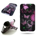 For Nokia Lumia 530 Dual Layer Heavy Duty Hybrid Design Case w/ Stand Cover