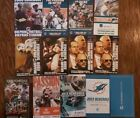 13 Different Miami Dolphin Pocket Schedules  2005 to 2016