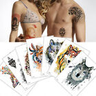 Waterproof Temporary Tattoo Stickers Beauty Arm Wolf Tiger Body Art Sticker Cool
