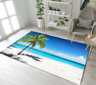 Home Area Rugs Tropical Coast Beach Palm Kids Living Room Soft Carpet Floor Mat