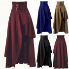Gothic Flared Halloween Swing Lolita Bandage Skirts Women High Waist Long Dress