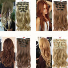 Women Synthetic Fiber Hair Extension Natural Reusable Full Head Curly Clip In