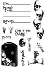 Joy Clair IF YOU DARE Clear  Rubber Stamp  Set of 12