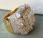 Men's Bling 8ct Diamond Pinky RING 14k Gold Brass ICY HIP-HOP  Pinkie