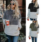 New Women Long Sleeve Hoodie Sweatshirt Sweater Jumper Coat Pullover Tops