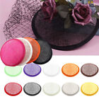 Women Sinamay Cocktail Hat Cap Fascinator Round Base Millinery DIY Craft Pretty