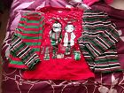 Girls Chrismas Outfit Set Size XL 14-16 Red Green Top 2 Leggings Holiday Time