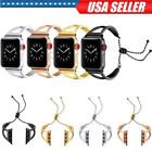 iWatch Stainless Steel Wrist Band Bangle Cuff Bracelet For Apple Watch 1 2 3 4 image