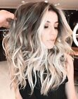 New Ombre Brazilian 100% Human Hair Wigs Blonde Wavy Full Lace Lace Front Wigs