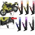 CNC Aluminum Alloy Motorcycle Side Stand Holder Adjustable Height 165-235mm US $20.99 USD on eBay