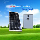 100-Watt-100W-Solar-Panel-12V-12-Volt-Battery-Charger-RV-Boat-off-Grid-Camping