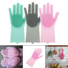 1Pc Magic Silicone Cleaning Brush Scrubber Gloves Heat Resistant Scrub Tool