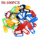 Assorted Colors Key Ring Tags Keychain Key ID Label Luggage Tag Label 50-100PCS