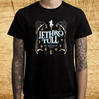 Jethro Tull 50th Anniversary Tour Logo Men's Black T-Shirt Size S M L XL 2XL 3XL image
