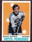 1970-71 O-PEE-CHEE HOCKEY CARD #204 BRYAN WATSON PITTSBURGH PENGUNS NHL
