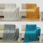 "Soft Throw Blanket Warm Knit Textured Solid for Bed Sofa Couch Washable 50 x 60"" image"