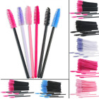 50pcs Disposable Eyelash Brush Mascara Wands Applicator Eyelash Comb Makeup Tool