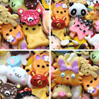 10pcs/lot Mini  Cute Dolls Play Toy Miniature Food Cake Biscuit Donuts