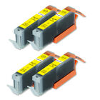 4 PK Premium XL Yellow Ink Cartridge for Canon CLI-271 MG6821 MG7720 TS6020