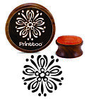 Printtoo Mandala Floral Pattern Craft Textile Round Stamp Wooden Stamps-PRB-93
