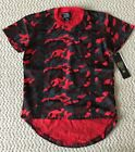 NWT Men's LR Scoop Red Camouflage Camo Black Strap Tee Shirt ALL SIZES S-2XL